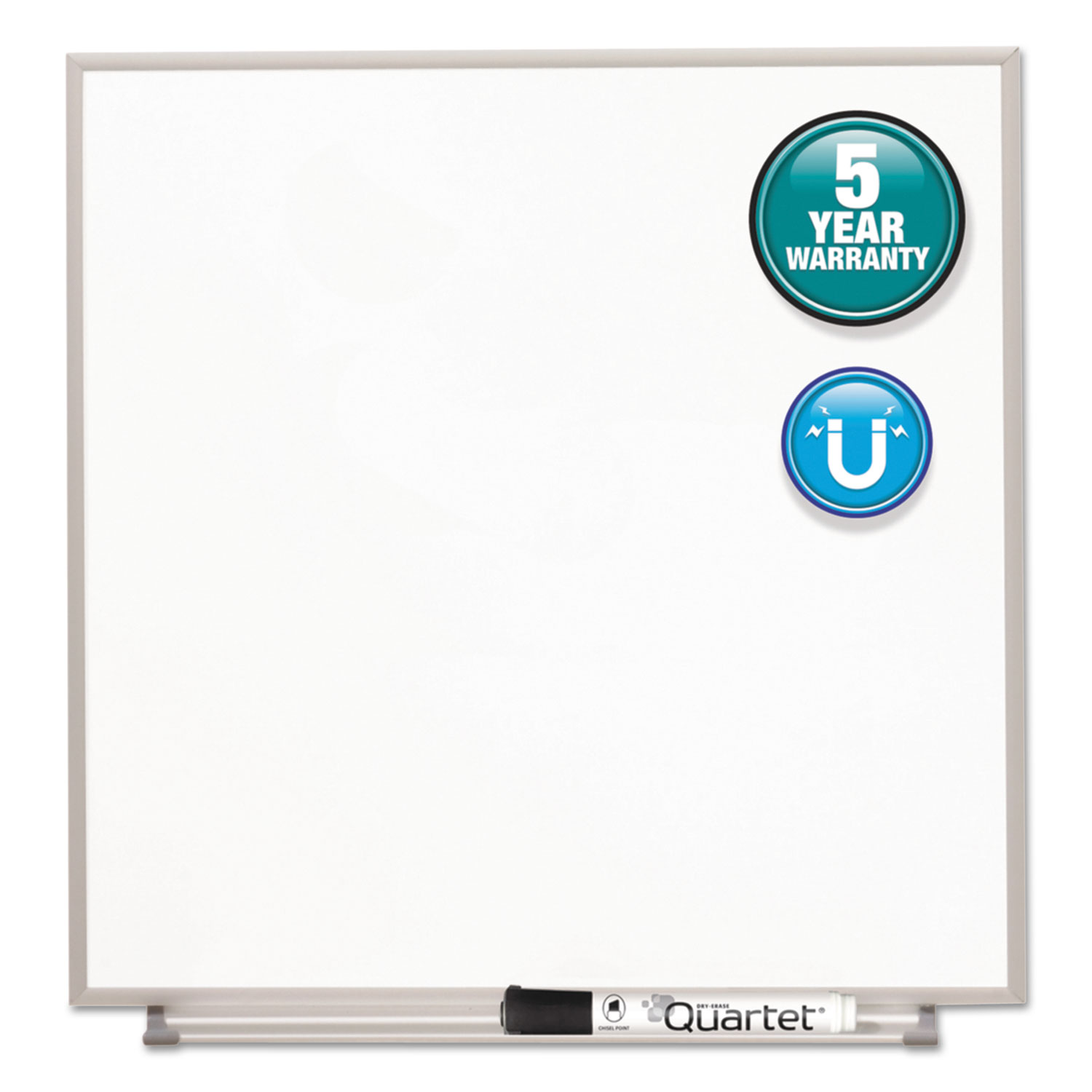 Picture of Matrix Magnetic Boards, Painted Steel, 23 x 23, White, Aluminum Frame