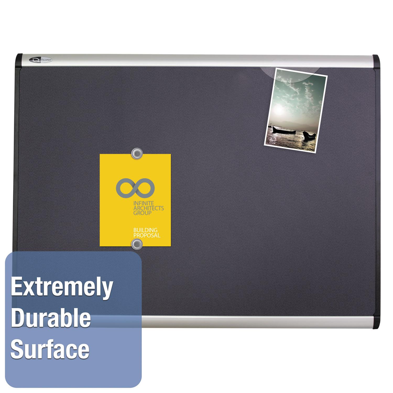 Picture of Prestige Plus Magnetic Fabric Bulletin Board, 72 x 48, Fiberboard/Plastic Frame