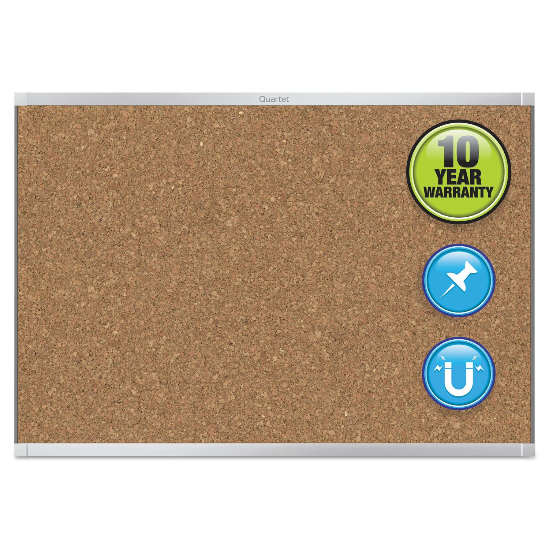 Picture of Prestige 2 Magnetic Cork Bulletin Board, 36 x 24, Aluminum Frame