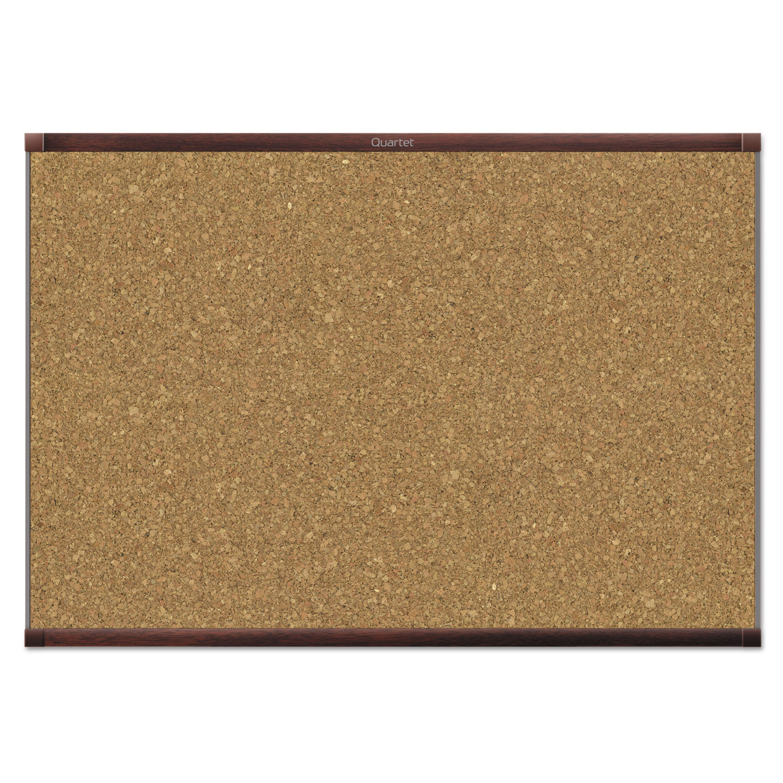 Picture of Prestige 2 Magnetic Cork Bulletin Board, 48 x 36, Mahogany Frame