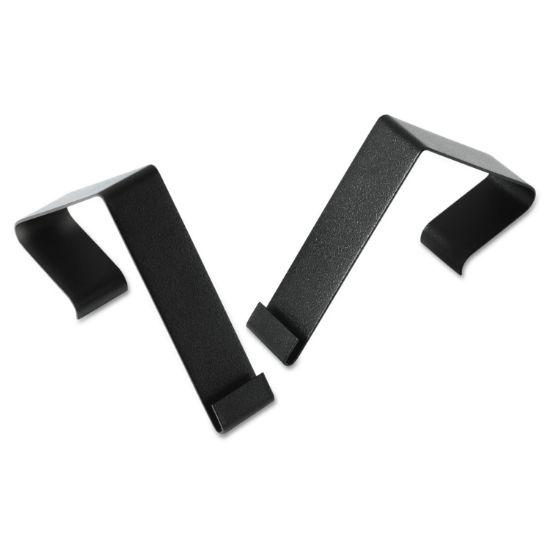"""Picture of Cubicle Partition Hangers, 1 1/2"""" - 2 1/2"""" Panels, Black, 2/Set"""