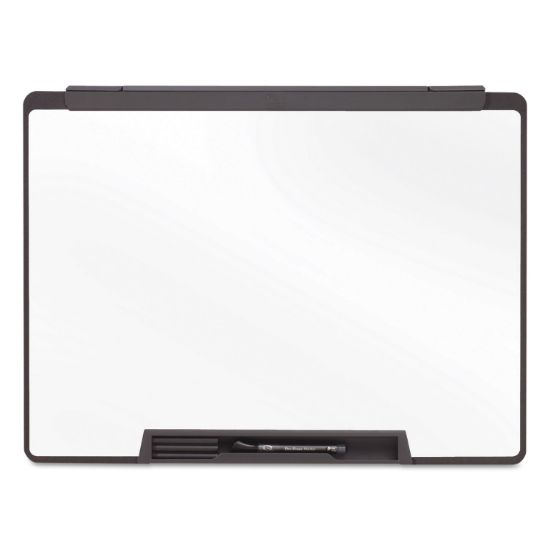 Picture of Motion Portable Dry Erase Board, 24 x 18, White, Black Frame