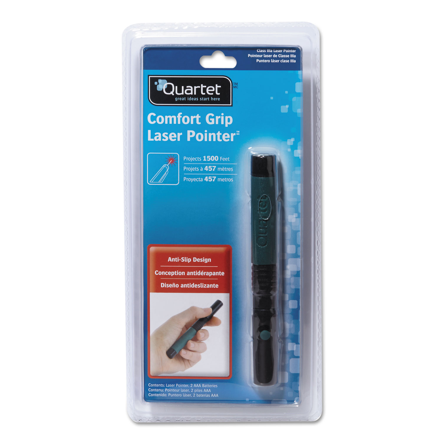 Picture of Classic Comfort Laser Pointer, Class 3A, Projects 1500 ft, Jade Green