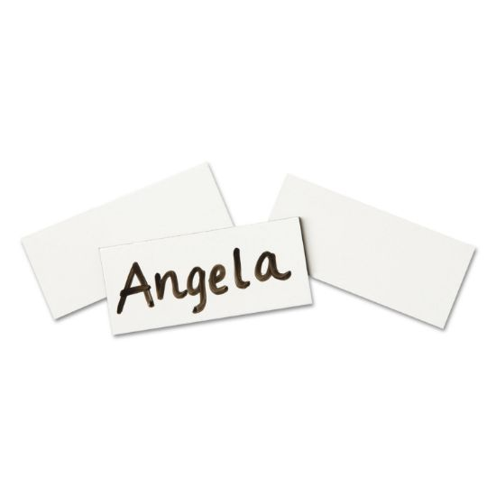 Picture of Magnetic Write-On/Wipe-Off Strips, 2w x 7/8h, White, 25/Pack