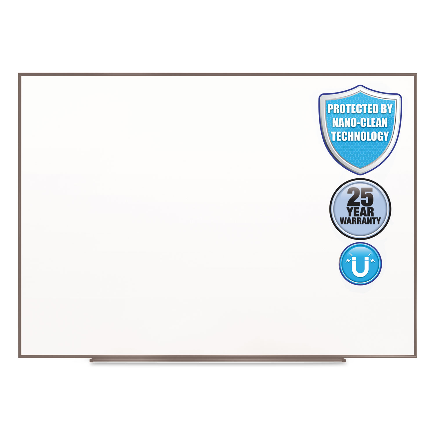 Picture of Fusion Nano-Clean Magnetic Whiteboard, 72 x 48, Silver Frame