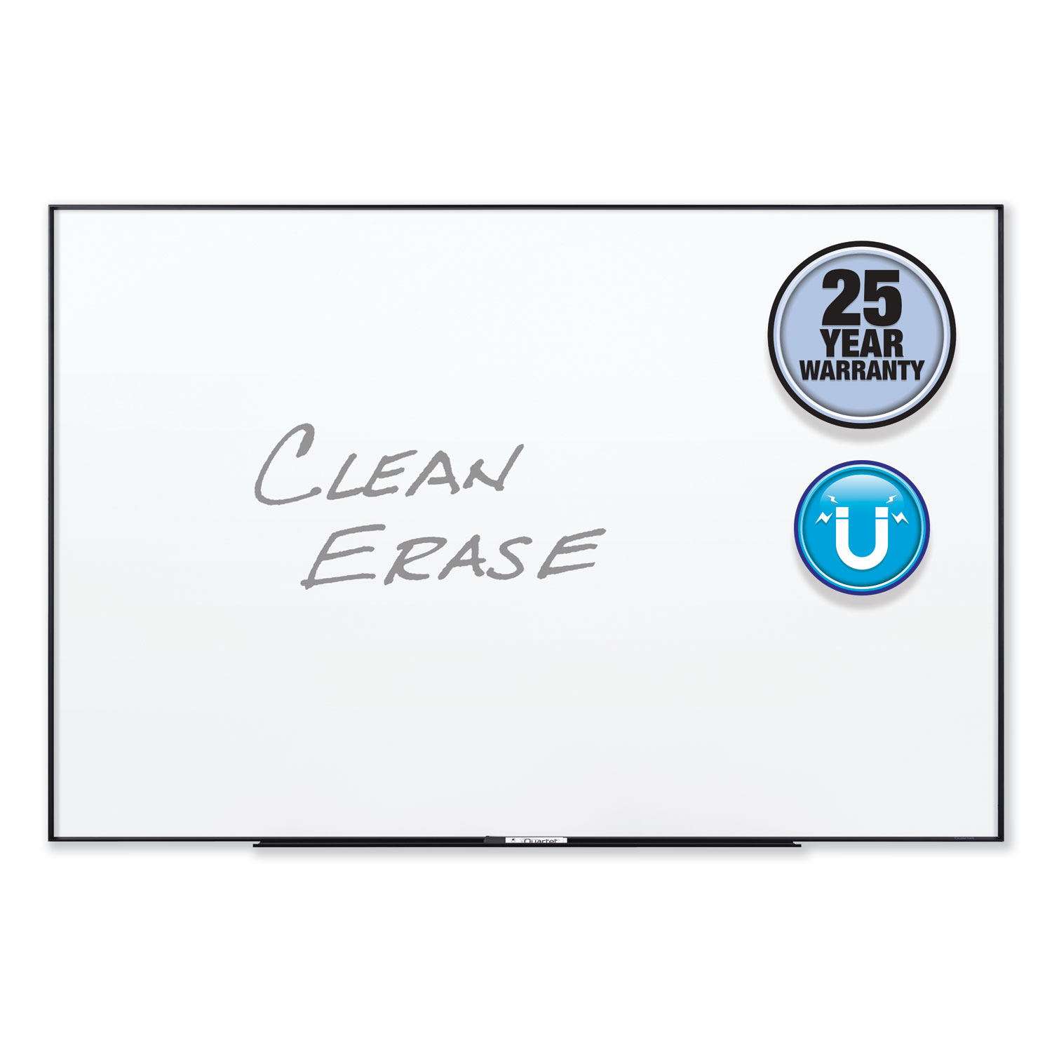Picture of Fusion Nano-Clean Magnetic Whiteboard, 96 x 48, Black Frame