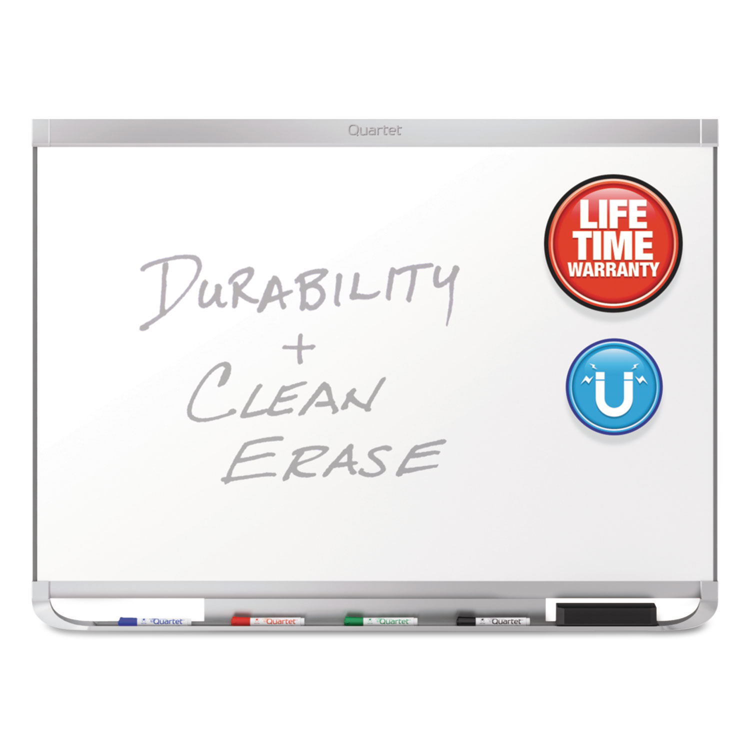 Picture of Prestige 2 DuraMax Magnetic Porcelain Whiteboard, 48 x 36, Silver Frame