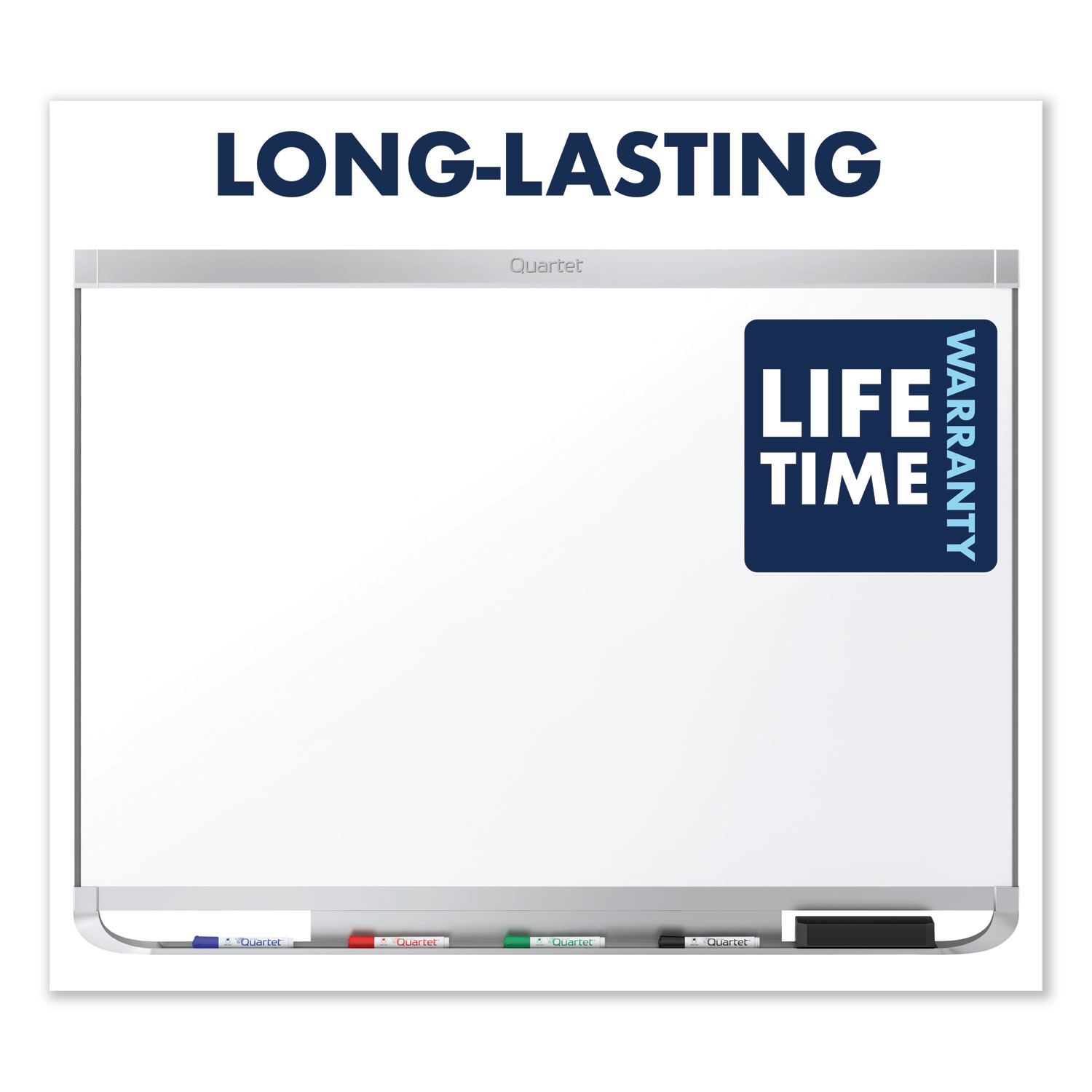 Picture of Prestige 2 DuraMax Magnetic Porcelain Whiteboard, 72 x 48, Silver Frame