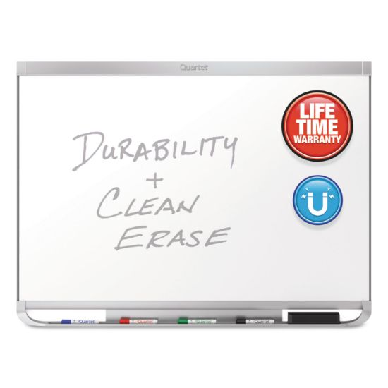 Picture of Prestige 2 DuraMax Magnetic Porcelain Whiteboard, 96 x 48, Silver Frame