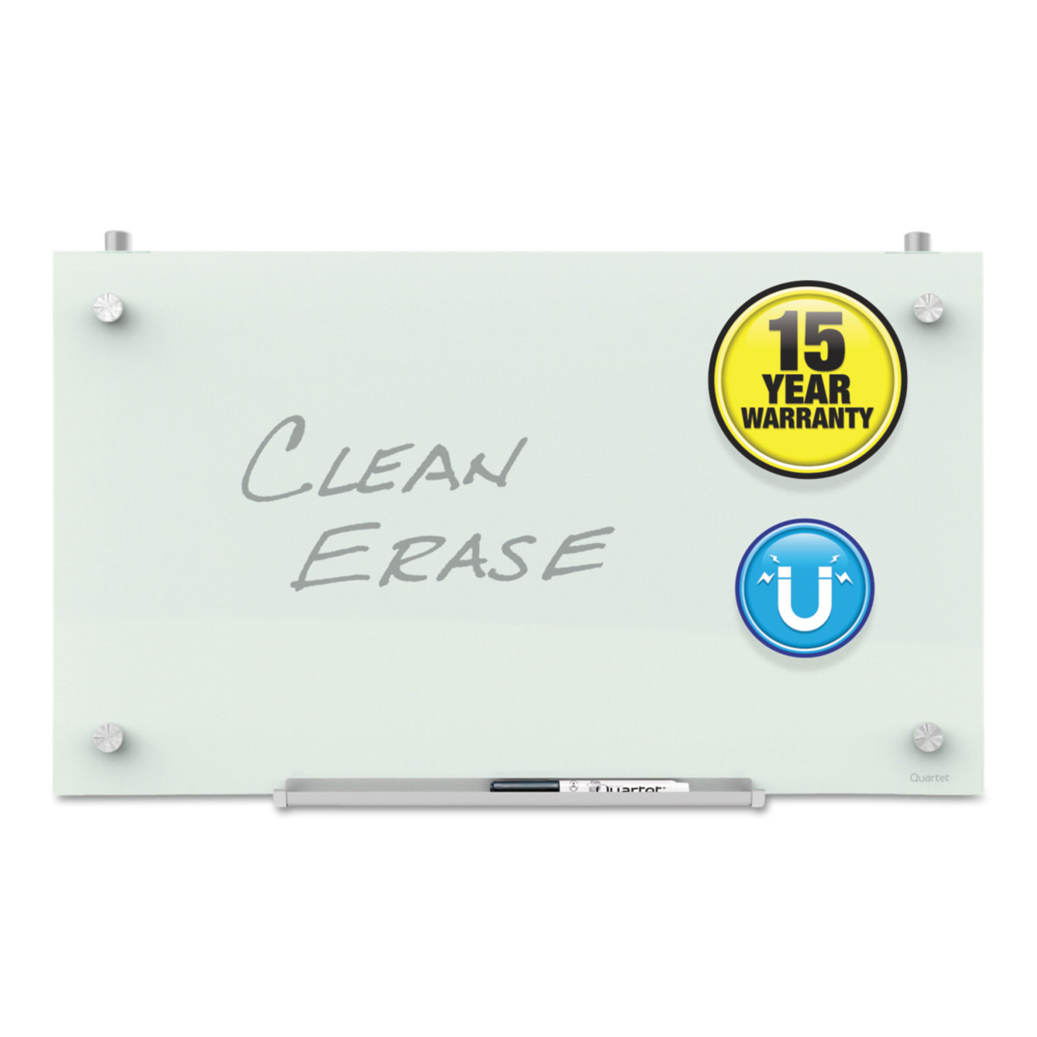 Picture of Infinity Magnetic Glass Dry Erase Cubicle Board, 18 x 30, White
