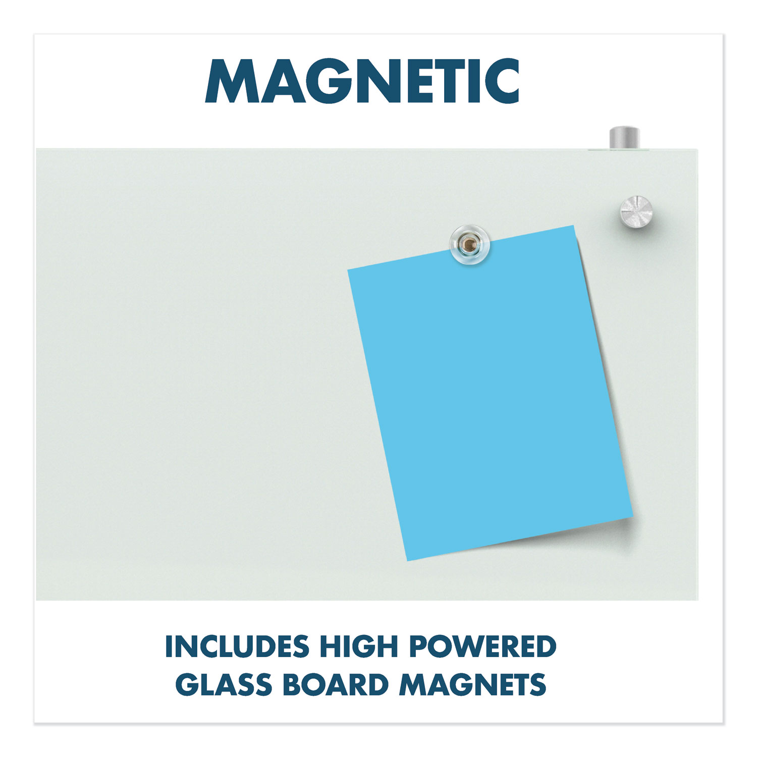 Picture of Infinity Magnetic Glass Dry Erase Cubicle Board, 14 x 24, White