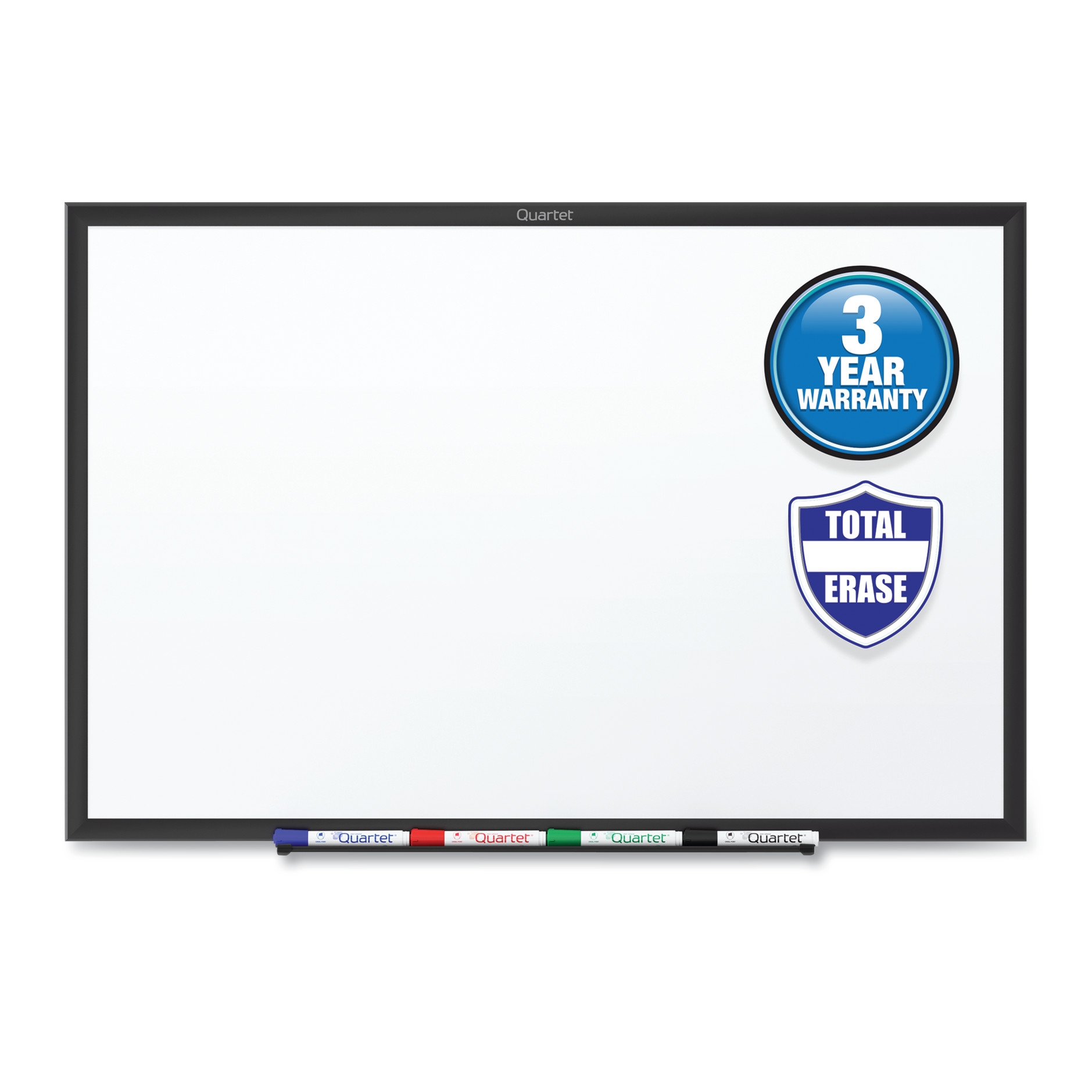 Picture of Classic Series Total Erase Dry Erase Board, 48 x 36, White Surface, Black Frame