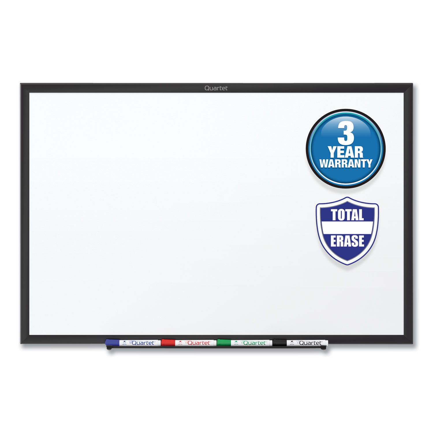 Picture of Classic Series Total Erase Dry Erase Board, 60 x 36, White Surface, Black Frame