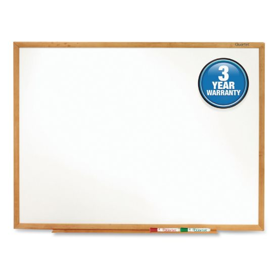 Picture of Classic Series Total Erase Dry Erase Board, 36 x 24, Oak Finish Frame