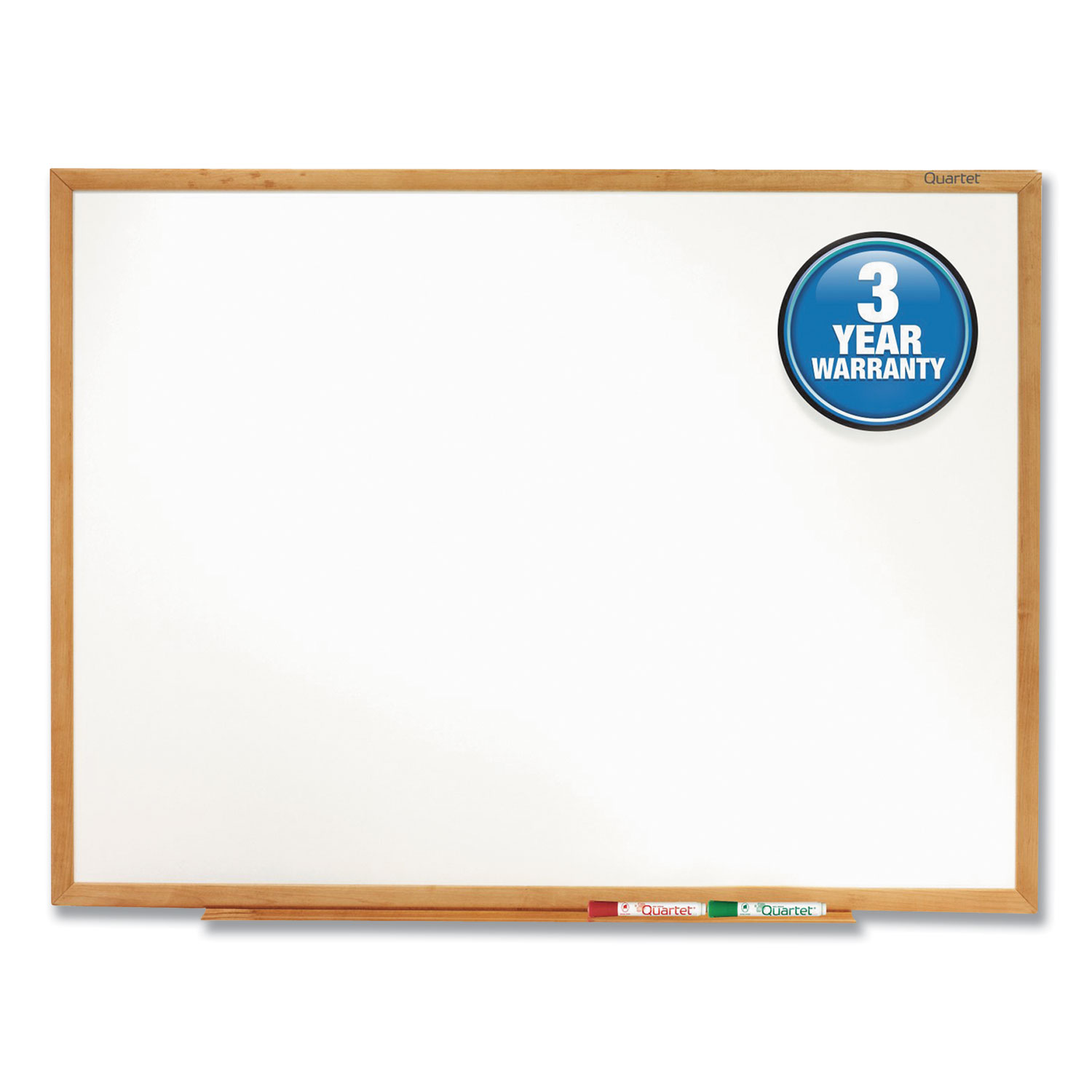 Picture of Classic Series Total Erase Dry Erase Board, 72 x 48, Oak Finish Frame