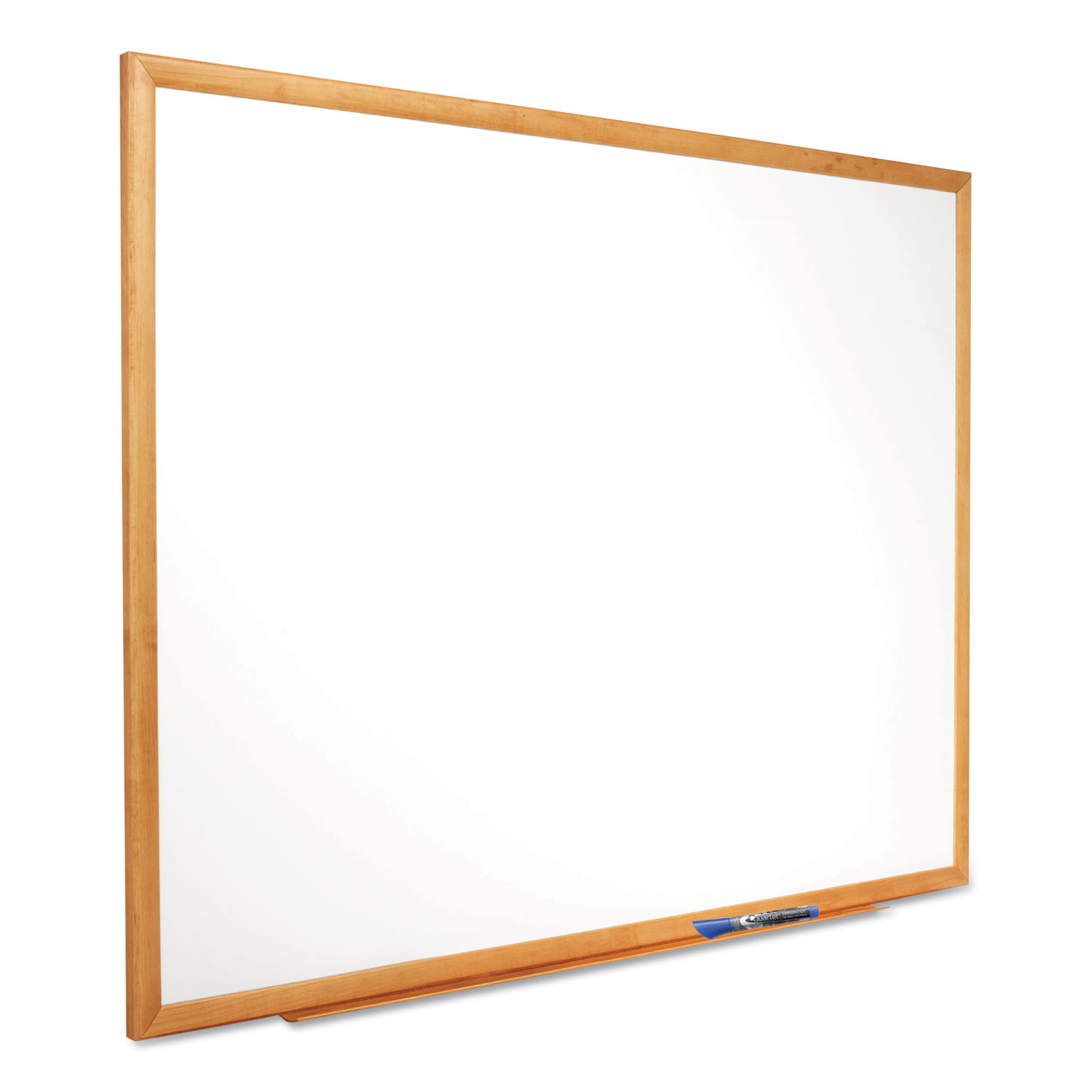 Picture of Classic Series Total Erase Dry Erase Board, 96 x 48, Oak Finish Frame