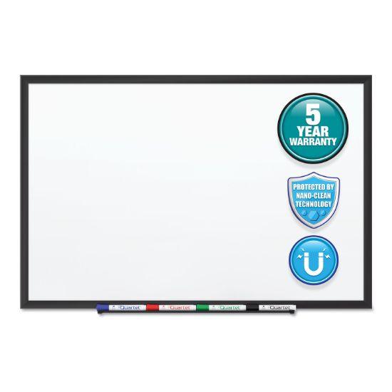 Picture of Classic Series Nano-Clean Dry Erase Board, 24 x 18, Black Aluminum Frame