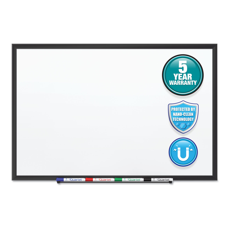 Picture of Classic Series Nano-Clean Dry Erase Board, 60 x 36, Black Aluminum Frame