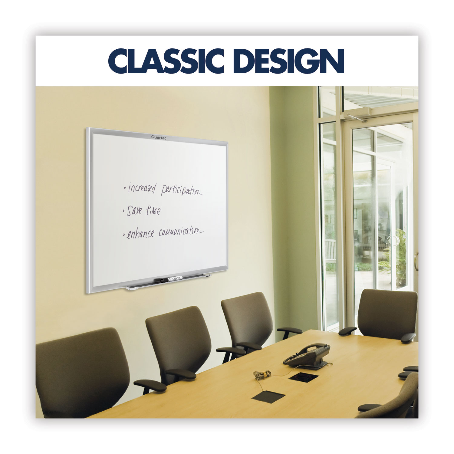 Picture of Classic Series Nano-Clean Dry Erase Board, 96 x 48, Silver Frame