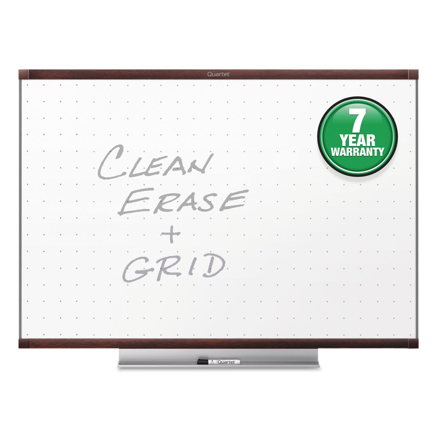 Picture of Prestige 2 Total Erase Whiteboard, 72 x 48, Mahogany Color Frame