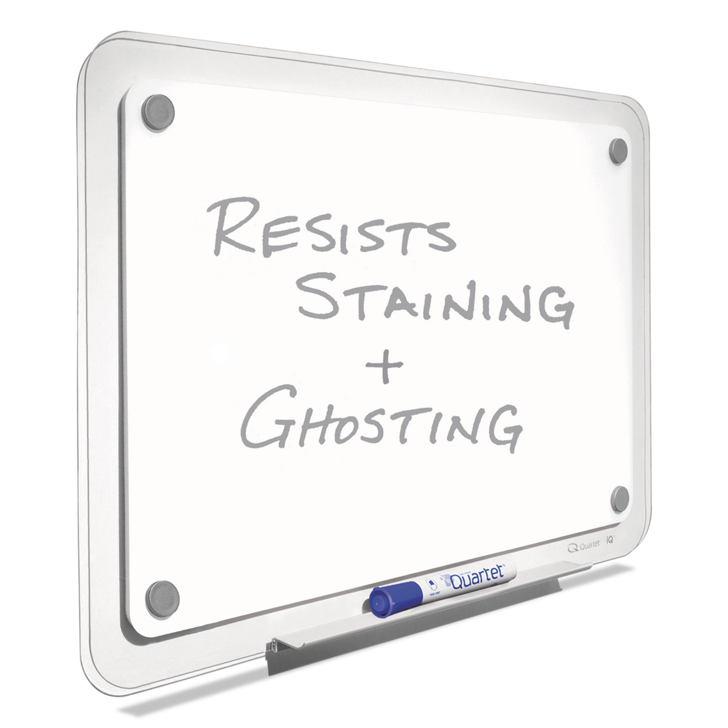 Picture of iQ Total Erase Board, 23 x 16, White, Clear Frame