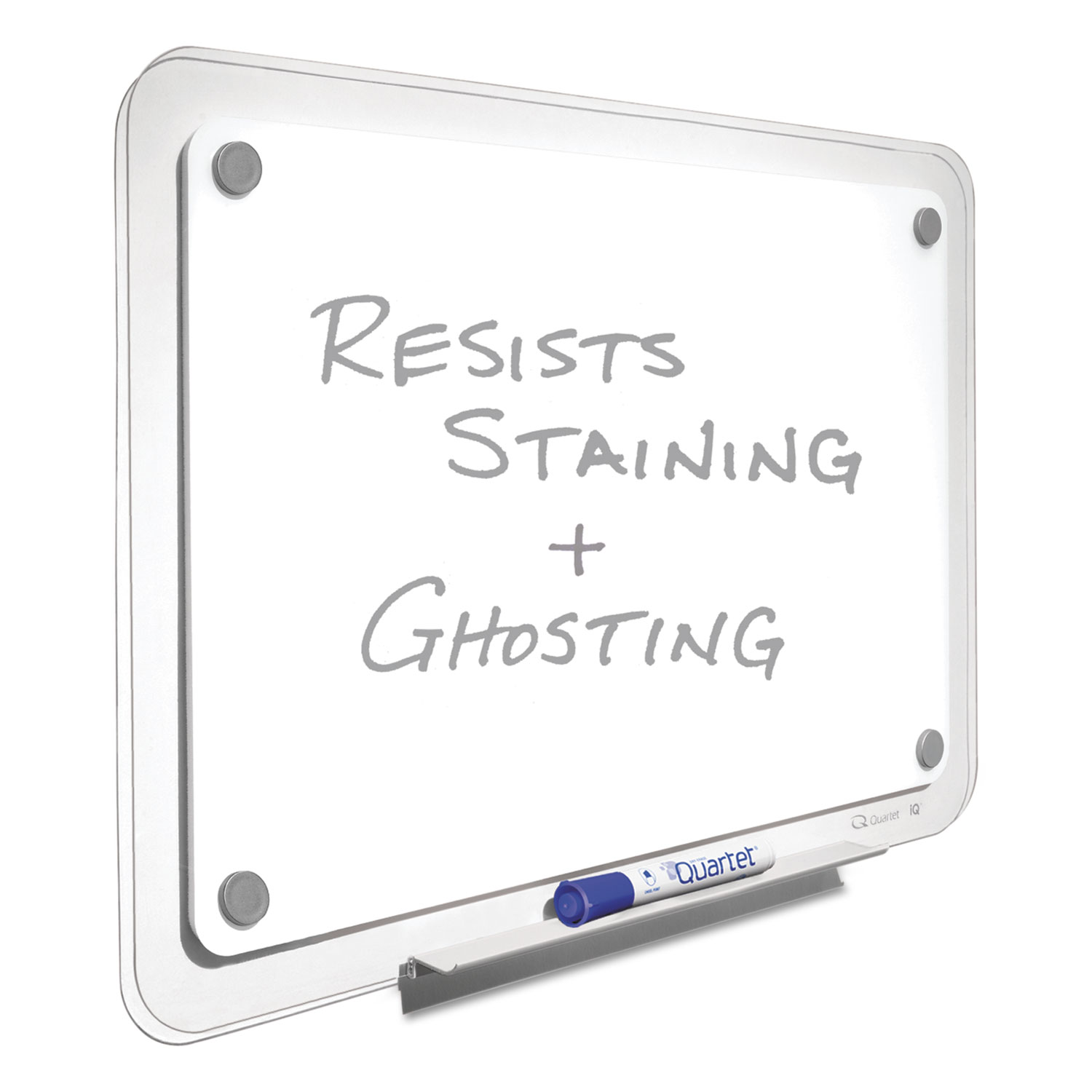 Picture of iQ Total Erase Board, 36 x 23, White, Clear Frame