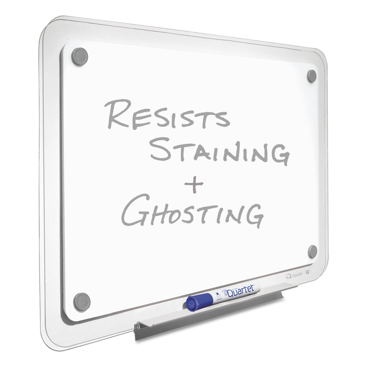 Picture of iQ Total Erase Board, 49 x 32, White, Clear Frame