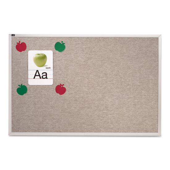 Picture of Vinyl Tack Bulletin Board, 48 x 48, Gray Surface, Silver Aluminum Frame