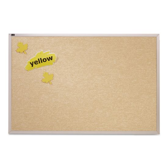 Picture of Vinyl Tack Bulletin Board, 72 x 48, White Surface, Silver Aluminum Frame