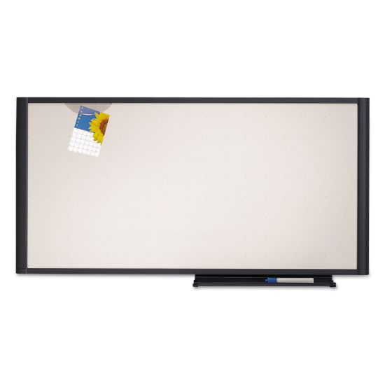 Picture of Prestige Cubicle Total Erase Whiteboard, 36 x 18, White Surface, Graphite Frame