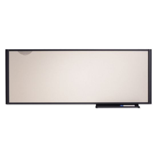 Picture of Prestige Cubicle Total Erase Whiteboard, 48 x 18, White Surface, Graphite Frame