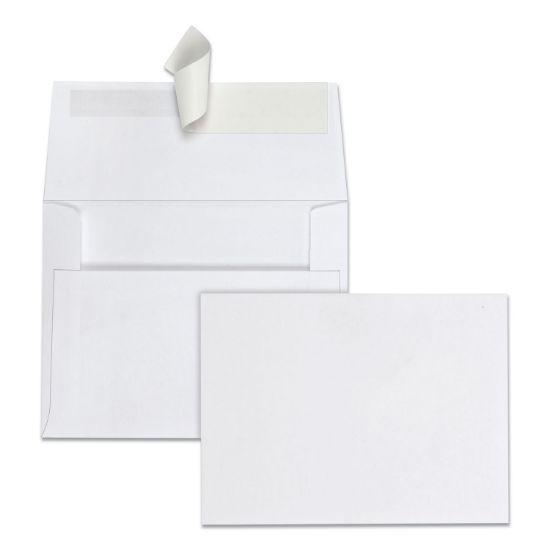 Picture of Greeting Card/Invitation Envelope, A-2, Square Flap, Redi-Strip Closure, 4.38 x 5.75, White, 100/Box