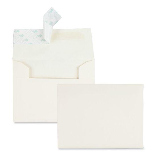 Picture of Greeting Card/Invitation Envelope, A-2, Square Flap, Redi-Strip Closure, 4.38 x 5.75, Ivory, 100/Box