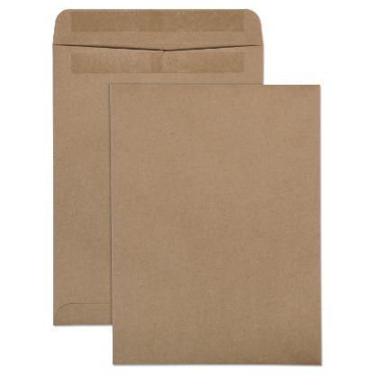 Picture of 100% Recycled Brown Kraft Redi-Seal Envelope, #10 1/2, Cheese Blade Flap, Redi-Seal Closure, 9 x 12, Brown Kraft, 100/Box