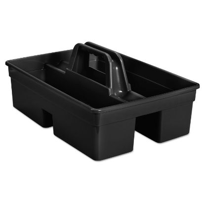 Picture of Executive Carry Caddy, 2-Compartment, Plastic, 10.75w x 6.5h, Black