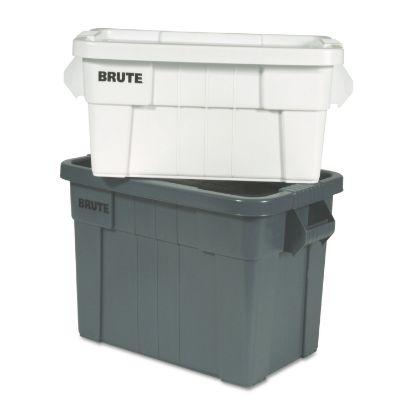 "Picture of Brute Tote Box, 20 gal, 27.88"" x 17.38"" x 15.13"", Gray"