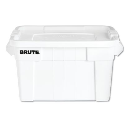"""Picture of BRUTE Tote with Lid, 20 gal, 27.9"""" x 17.4"""" x 15.1"""", White"""