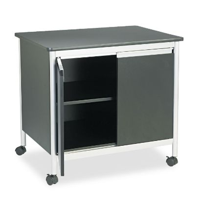 Picture of Deluxe Steel Machine Stand, One-Shelf, 32w x 24.5d x 30.25h, Black