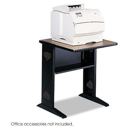 Picture of Fax/Printer Stand w/Reversible Top, 23.5w x 28d x 30h, Medium Oak/Black
