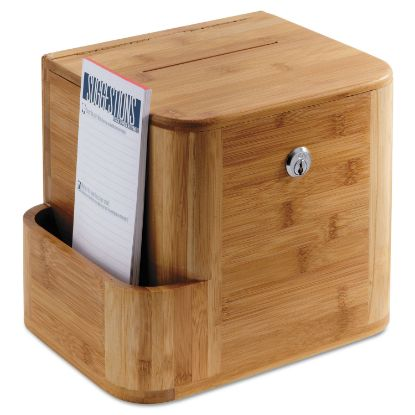 Picture of Bamboo Suggestion Box, 10 x 8 x 14, Natural