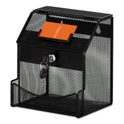 Picture of Onyx Mesh Collection Box, 7 1/4 x 8 1/2 x 6, Steel, Black