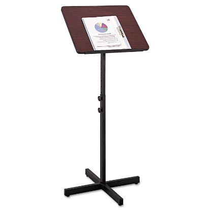 Picture of Adjustable Speaker Stand, 21w x 21d x 29.5h to 46h, Mahogany/Black