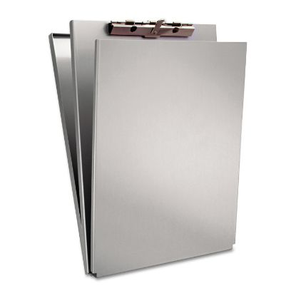 """Picture of A-Holder Aluminum Form Holder, 1/2"""" Clip Capacity, Holds 8.5 x 12 Sheets, Silver"""