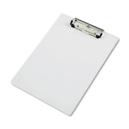 """Picture of Acrylic Clipboard, 1/2"""" Capacity, Holds 8-1/2w x 12h, Clear"""