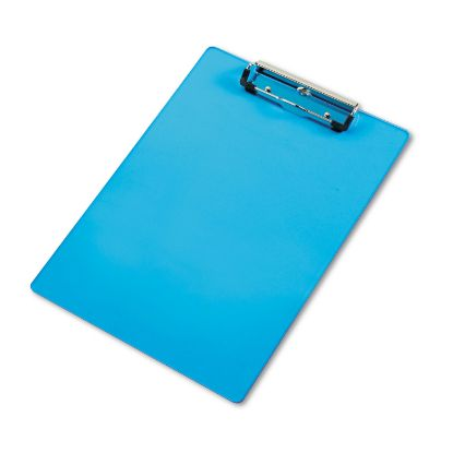 """Picture of Acrylic Clipboard, 1/2"""" Capacity, Holds 8-1/2w x 12h, Transparent Blue"""