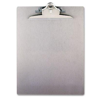"Picture of Aluminum Clipboard w/High-Capacity Clip, 1"" Clip Cap, 8 1/2 x 12 Sheets, Silver"