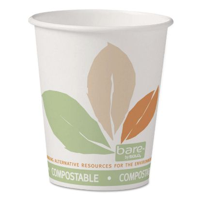 Picture of Bare by Solo Eco-Forward PLA Paper Hot Cups, 10 oz, Leaf Design, 50/Pack