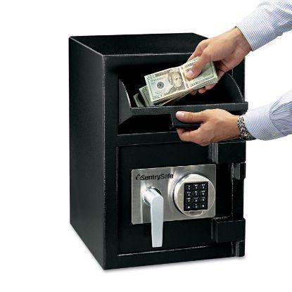 Picture of Digital Depository Safe, Large, 0.94 cu ft, 14w x 15.6d x 20h, Black