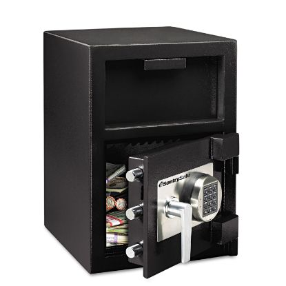Picture of Digital Depository Safe, Extra Large, 1.3 cu ft, 14w x 15.6d x 24h, Black