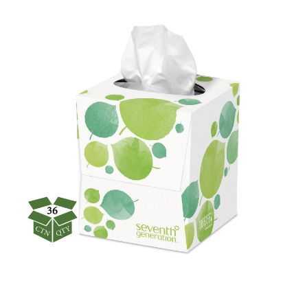 Picture of 100% Recycled Facial Tissue, 2-Ply, 85 Sheets/Box, 36 Boxes/Carton